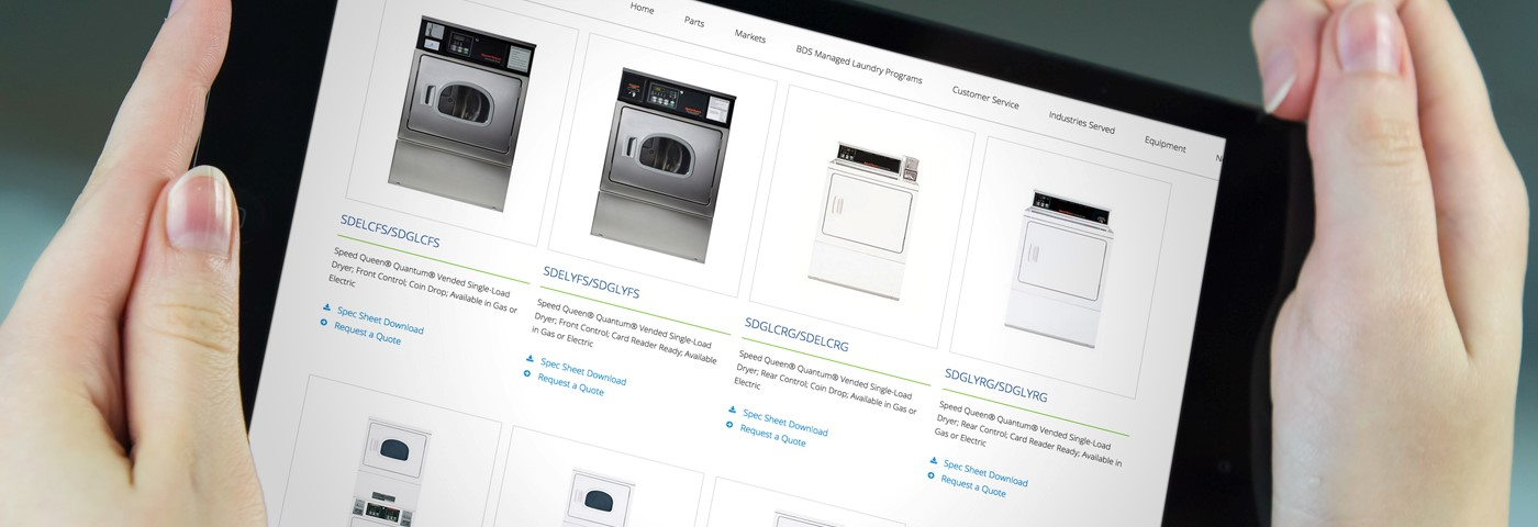BDS Laundry Systems Tablet iPad