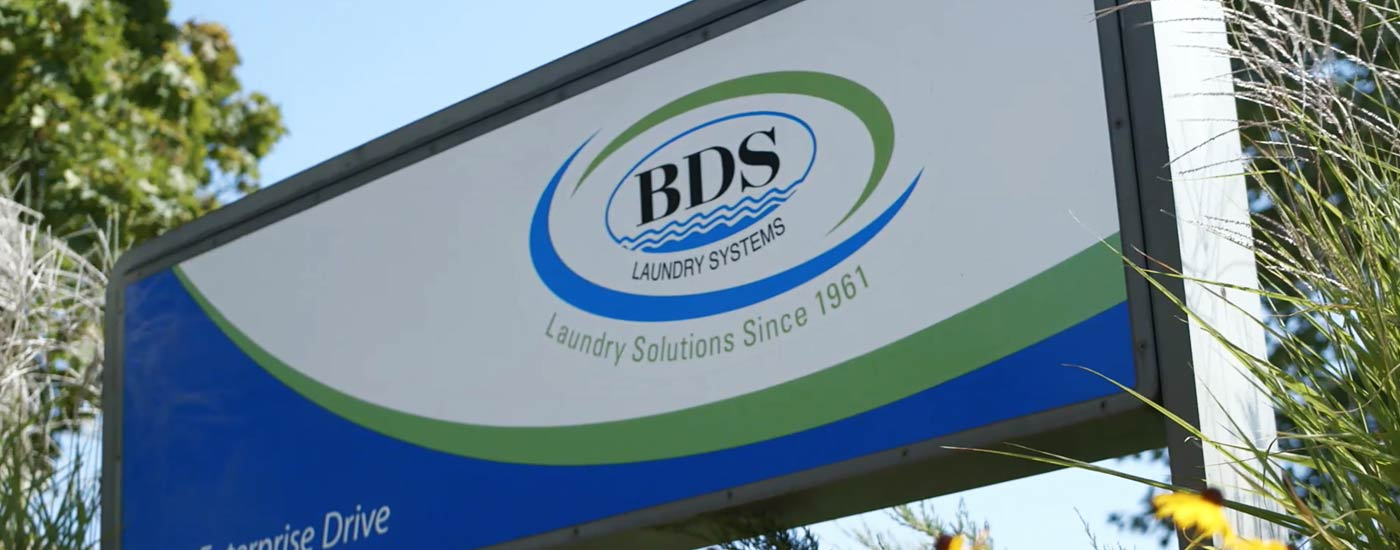 BDS Laundry Systems Sign