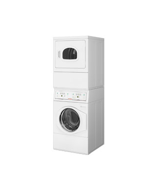 SQ-OPL-Stack-WD dryer BDS Laundry Systems