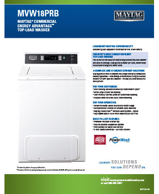 MVW18PR Maytag Washer BDS Laundry