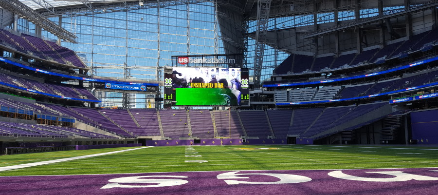 PHOTOS: BDS Laundry Systems Visits US Bank Stadium