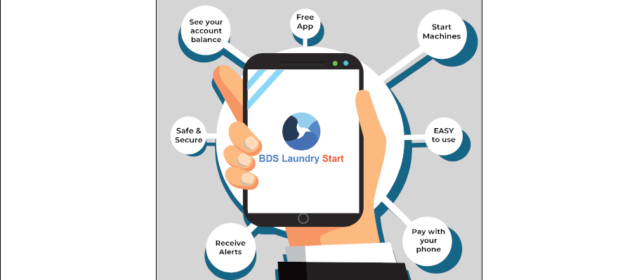 Announcing the New BDS Laundry Start App